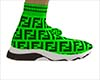 Fendi Green Sock Shoes