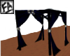 Black&Blue Bed Curtains