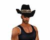 SNAKE BLACK COWBOY HAT