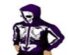 purple & blk skull hoodi