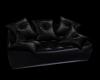 5Pose Black Leather Sofa