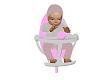 bébé fille chaise