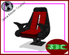 Black & Red Cptn Chair