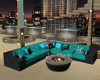 Sexy Teal Sofa Fire Pit