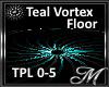 Teal Vortex Floor
