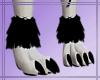 Black Furry Paws