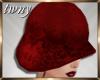 20s Flapper Hat Ruby