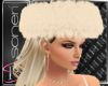 Beige fur hat