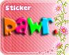 *Ej* Rawr sticker *