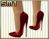SM1 7in Heels Satin Red