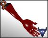 PVC gloves red (f)