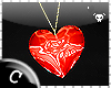 .C Ruby Heart Necklace