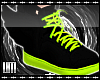 L Toxic Green Wing Shoes