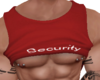 Security Pierced Red