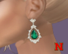 Emerald Diamond Earrings