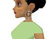 White wedding earrings