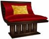 Dark Wood Chair w Cush