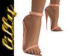 Sparkly rose gold heels
