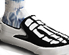 bones / blue socks
