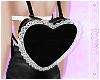 ☽ Black Lace Heart Bag