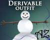 *AZ* Snowman Suit Unisex