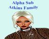 Alpha Sub Atkins Family