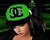 Black N Green DC Hat