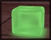 Green Glow Seating Cube
