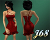 J68 Jillian Dress Red