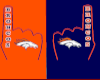 Broncos FOam FInger