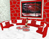 *K* Red/White Sectional
