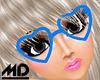 *MD* Love Blue Glasses