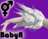 BA White Feather Cuffs