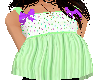 flat green top w/bow