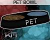 +KM+ Pet Bowl Blk