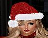 Red Sparkle Santa Hat