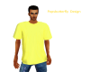 yellow tee shirt