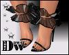 D- Vday Black Heels