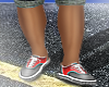 ♛ Red & Grey Vans
