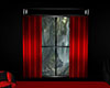 Blk Window w/Red Curtain