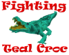 (1M) Teal Fight Croc
