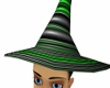 witch's green/black hat