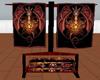 Wiccan Dragon Towel Rack