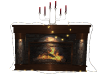 Fireplace w/lites candle