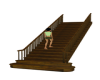 Wood Stairs W/Action