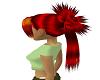 redishblack hair