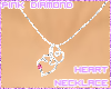 Diamond Heart Pink Gem