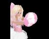 Pink White Pom Poms F