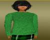 cool long green sweater