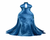 Satin Blue Long Gown